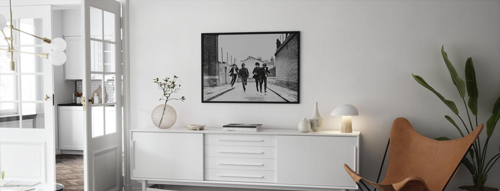 Beatles in einer harten Tage Nacht - Gerahmtes bild - Wohnzimmer
