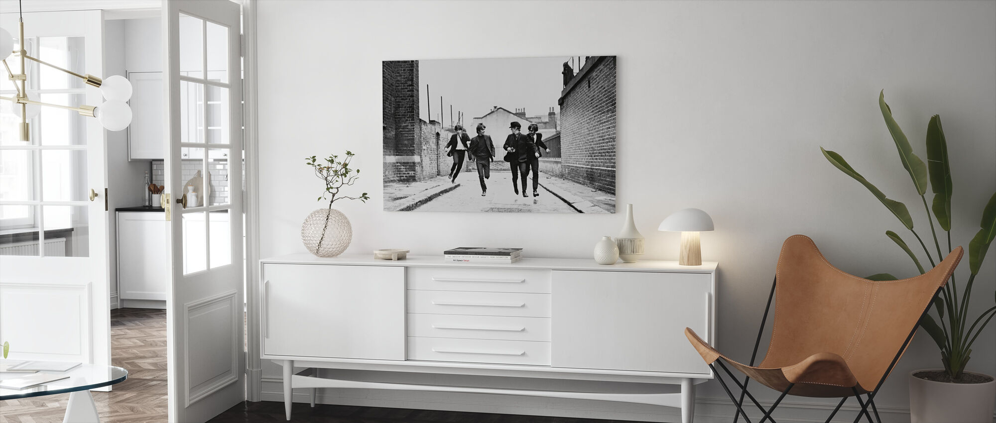 Beatles in a Hard Days Night - Canvas print - Living Room
