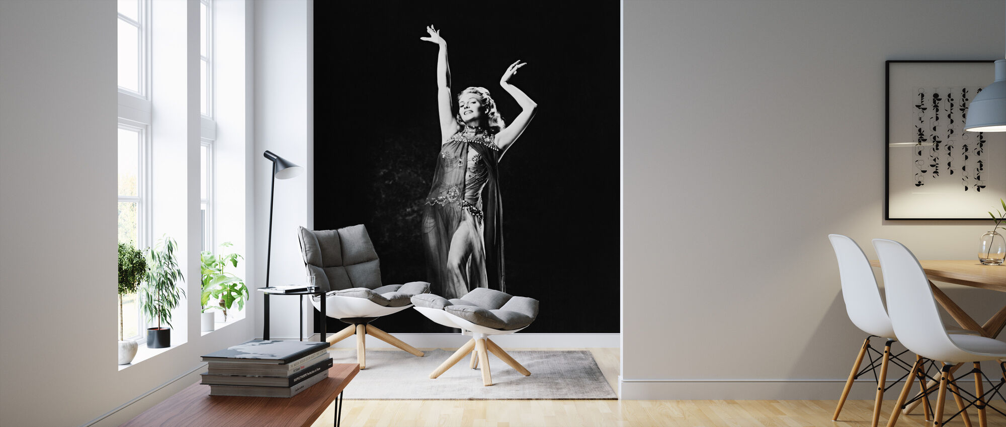 Rita Hayworth in Salome de dans van de zeven sluiers - Behang - Woonkamer