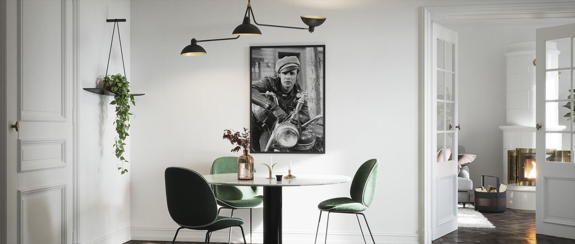 Marlon Brando in de wilde - Ingelijste print - Keuken