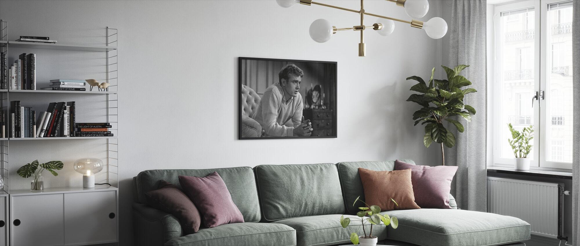 James Dean i öster om Eden - Inramad tavla - Vardagsrum