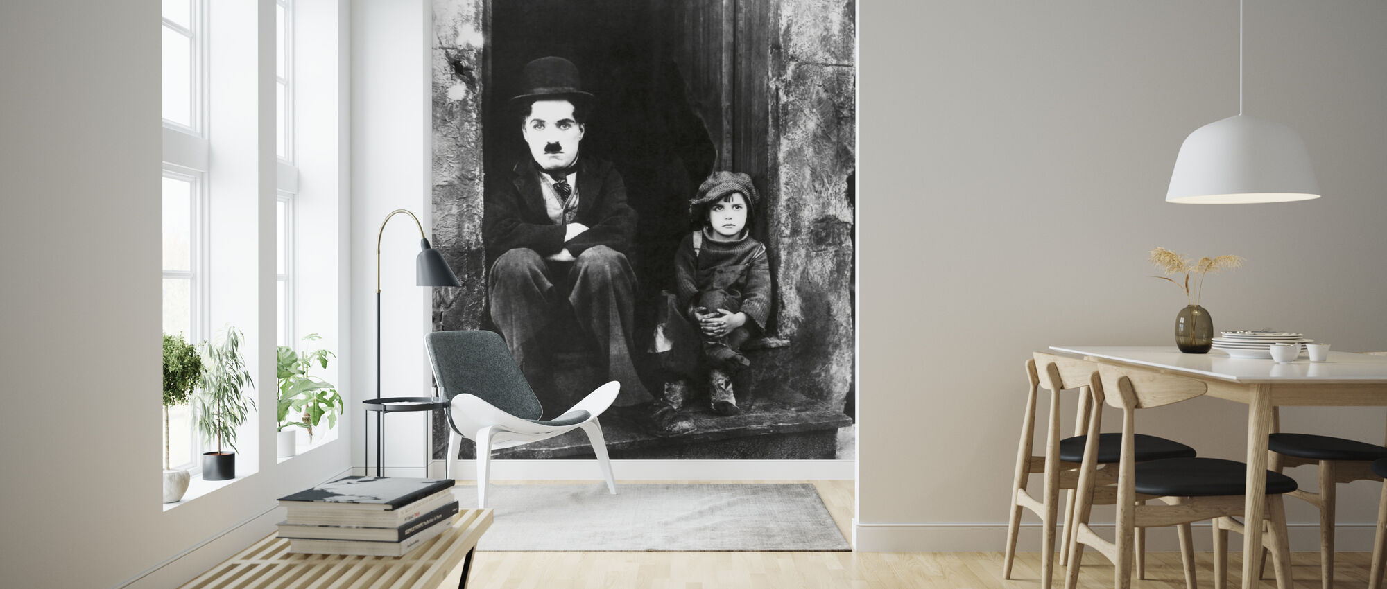 Charlie Chaplin and Jackie Coogan - Wallpaper - Living Room