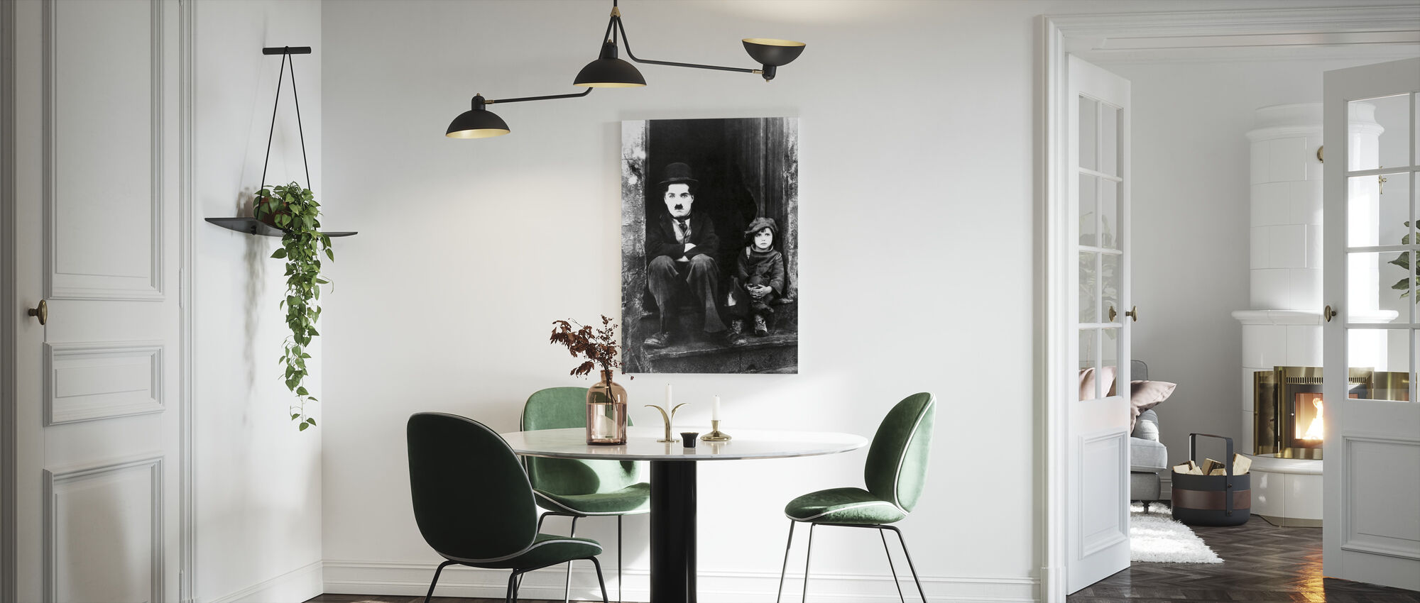 Charlie Chaplin and Jackie Coogan - Canvas print - Kitchen