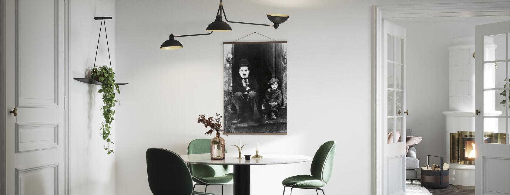 Charlie Chaplin og Jackie Coogan - Plakat - Kjøkken