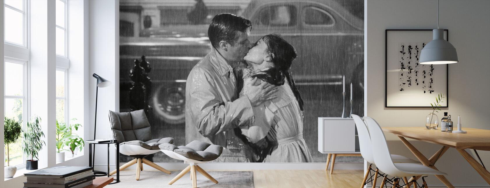 Audrey Hepburn and George Peppard in Breakfast at Tiffanys - Wallpaper - Living Room