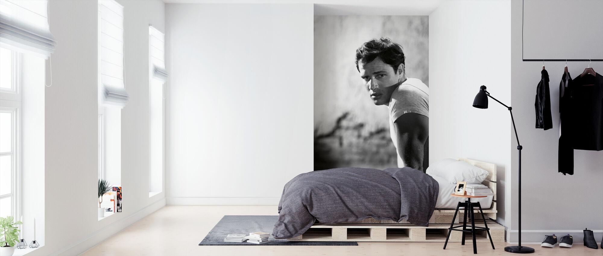 Marlon Brando i en sporvogn som heter Desire - Tapet - Soverom