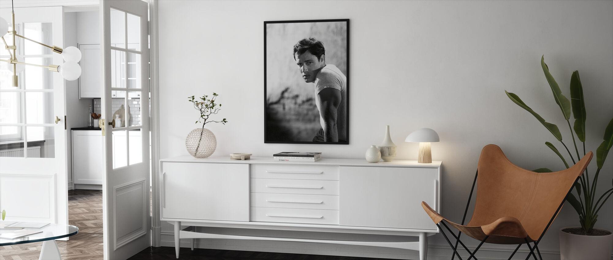 Marlon Brando i en spårvagn som heter önskan - Inramad tavla - Vardagsrum
