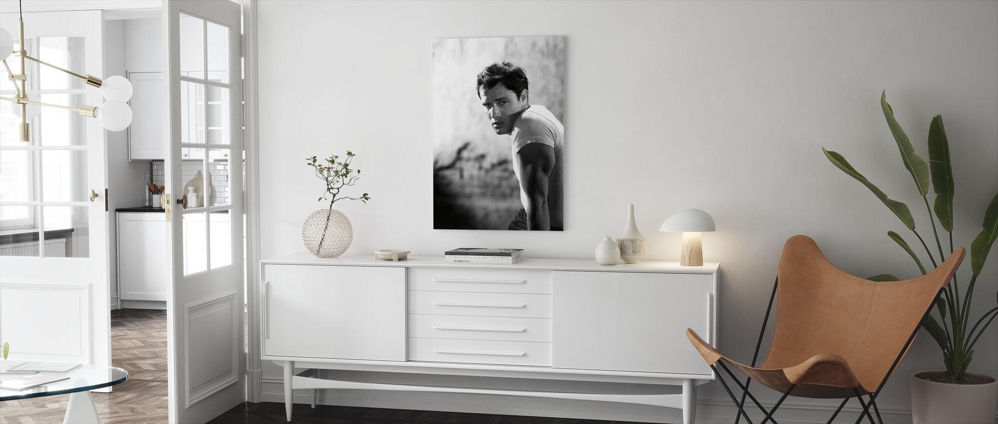 Marlon Brando in a Streetcar Named Desire - Canvas print - Living Room