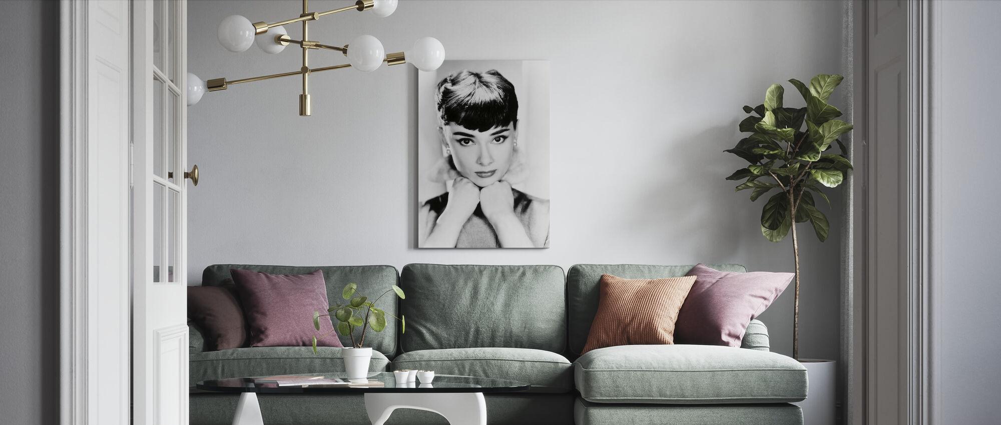 Audrey Hepburn - Canvas print - Living Room