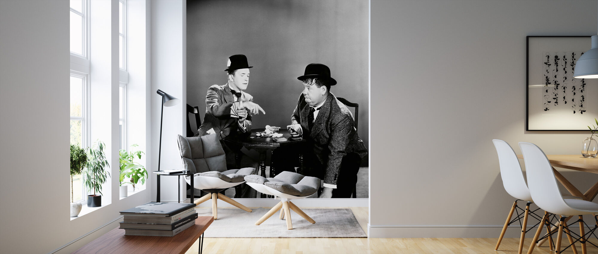 Oliver Hardy and Stan Laurel - Wallpaper - Living Room