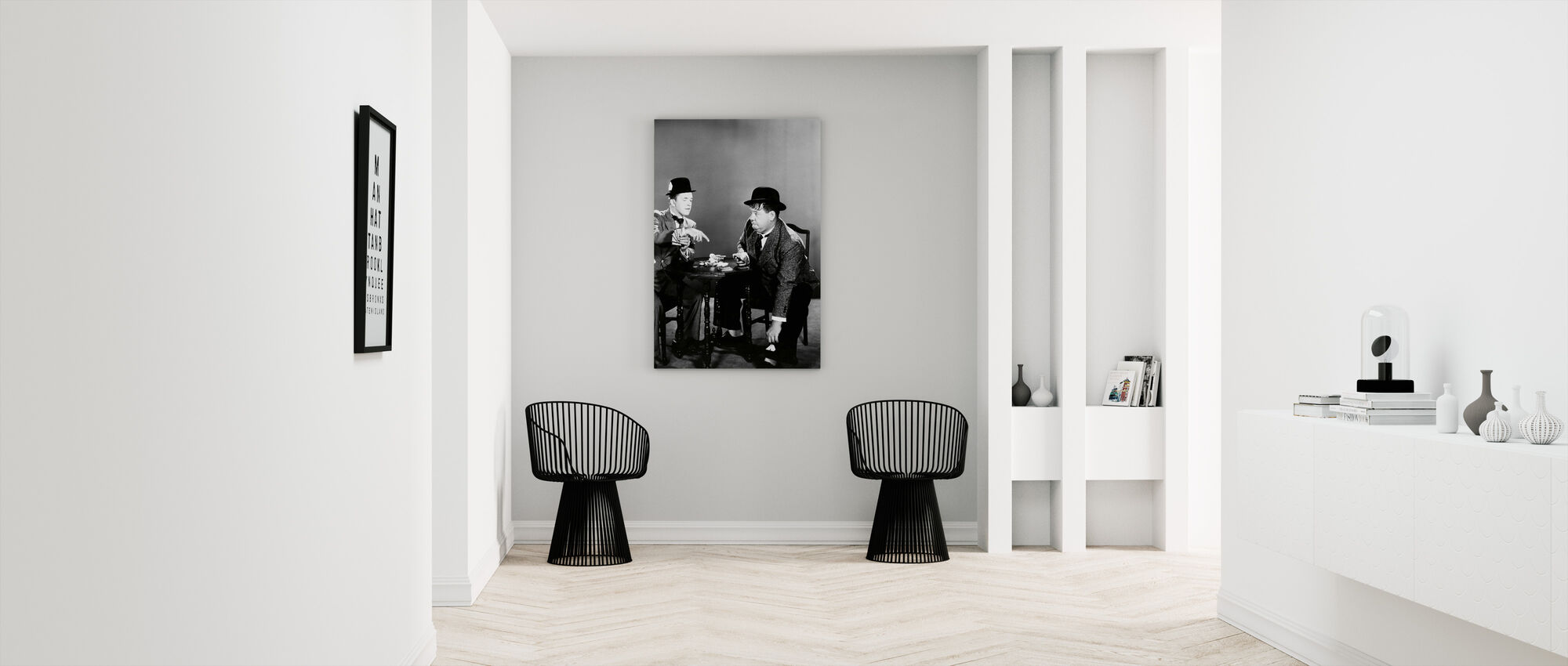 Oliver Hardy and Stan Laurel - Canvas print - Hallway