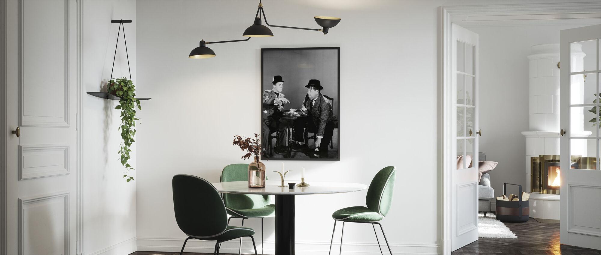 Oliver Hardy en Stan Laurel - Ingelijste print - Keuken