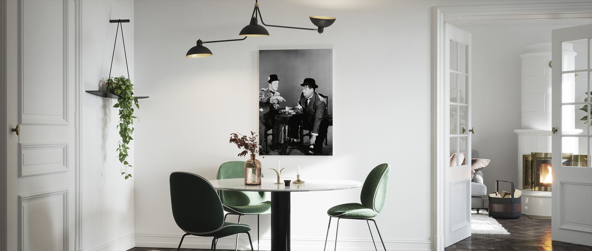 Oliver Hardy and Stan Laurel - Canvas print - Kitchen
