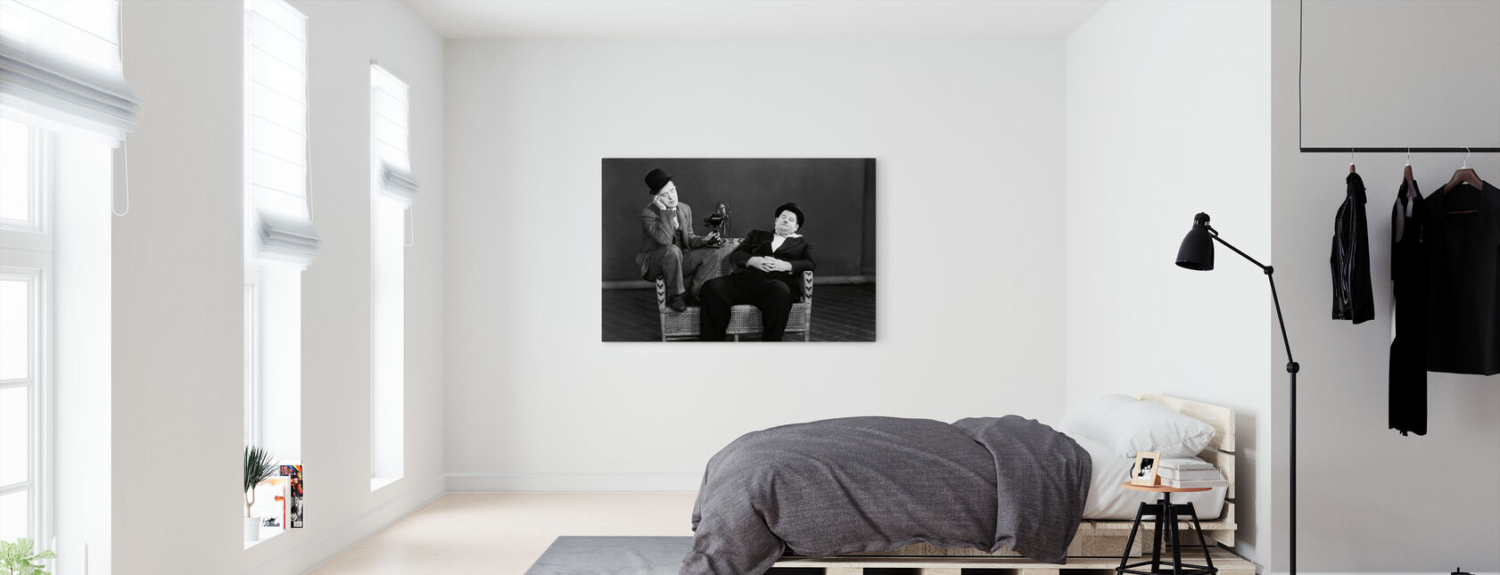 Oliver Hardy and Stan Laurel - Canvas print - Bedroom