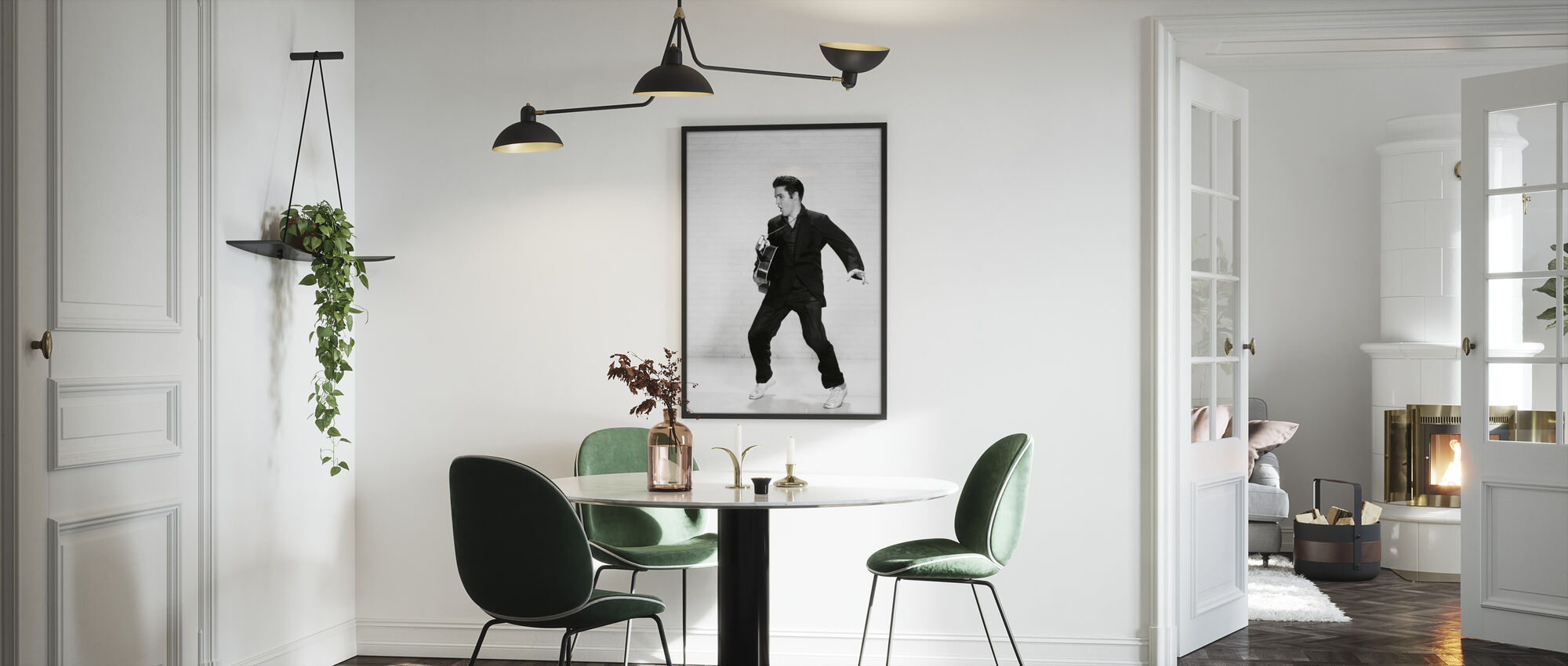 Elvis Presleyn - Kehystetty kuva - Keittiö