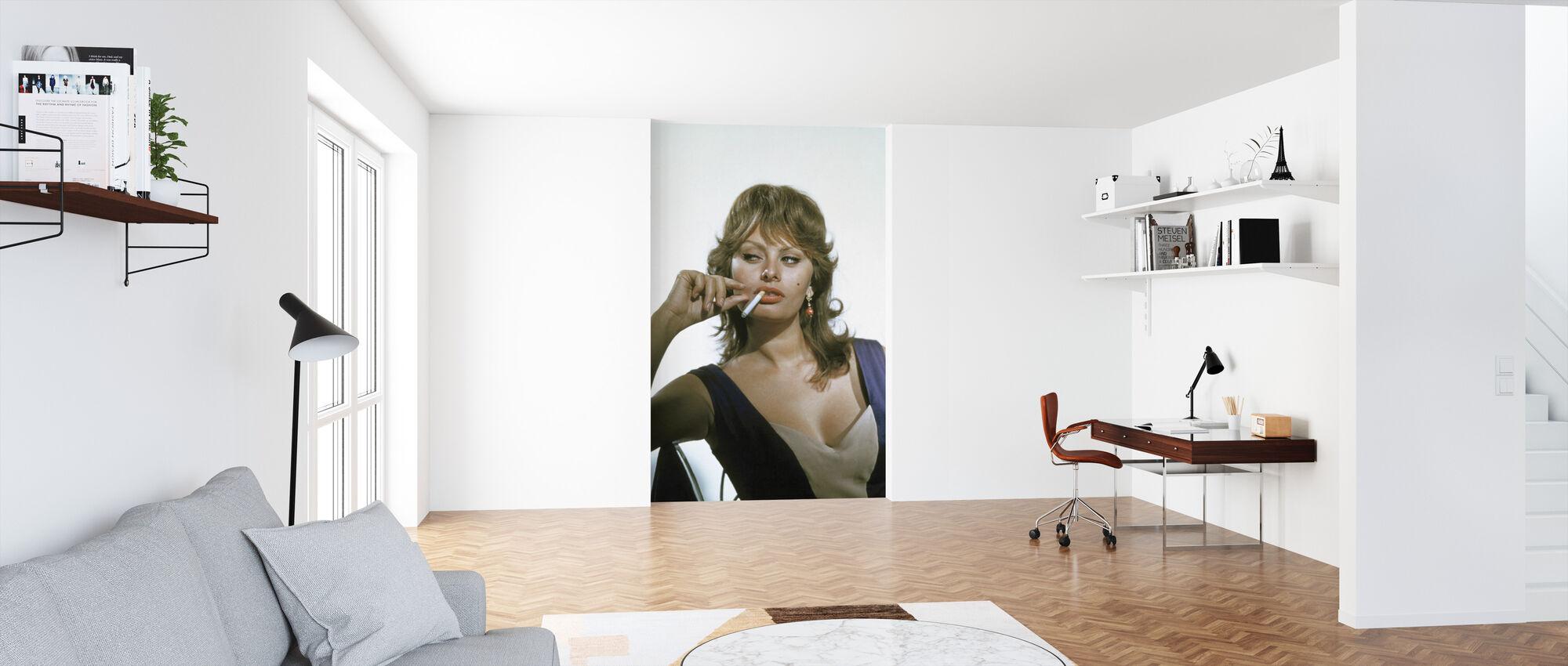 Sophia Loren - Tapet - Kontor