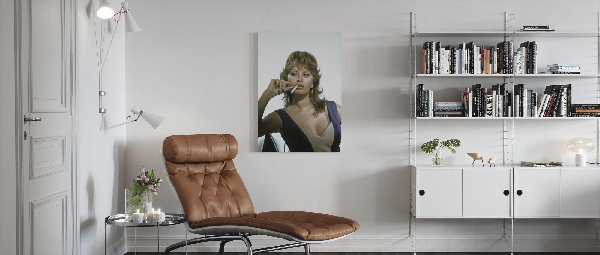 Sophia Loren - Leinwandbild - Wohnzimmer