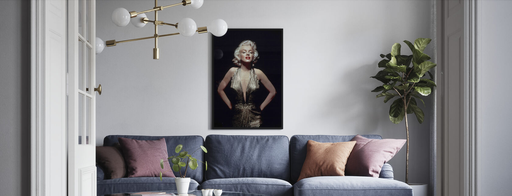 Marilyn Monroe in Gentlemen Prefer Blondes - Framed print - Living Room
