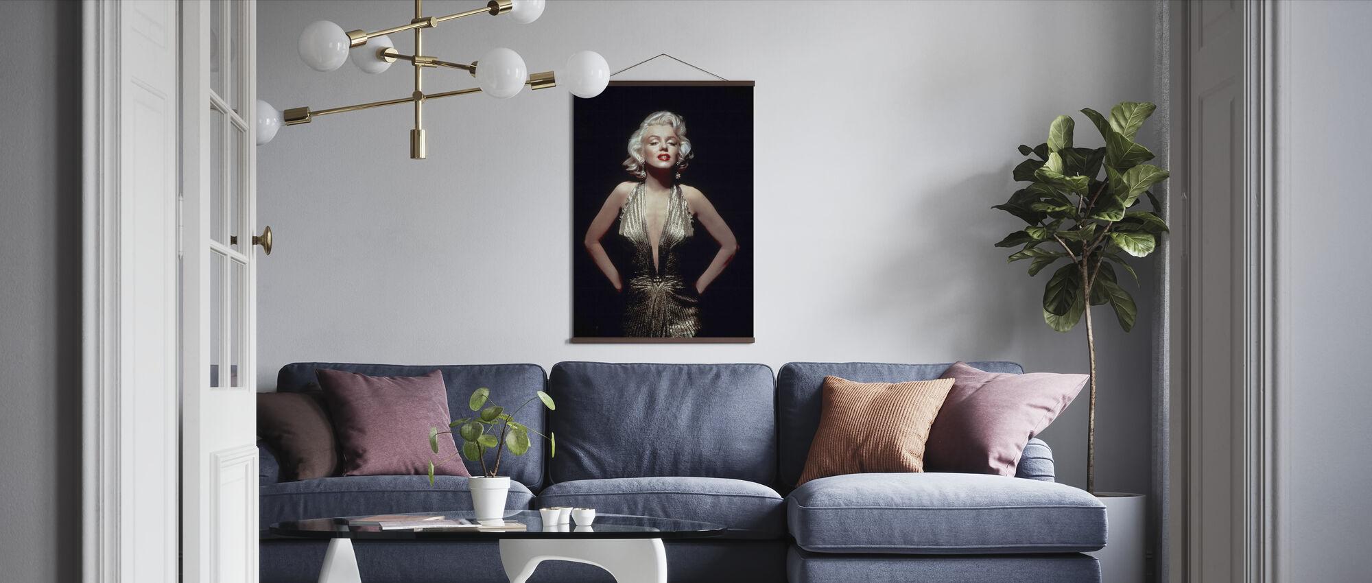 Marilyn Monroe in Gentlemen Prefer Blondes - Poster - Living Room