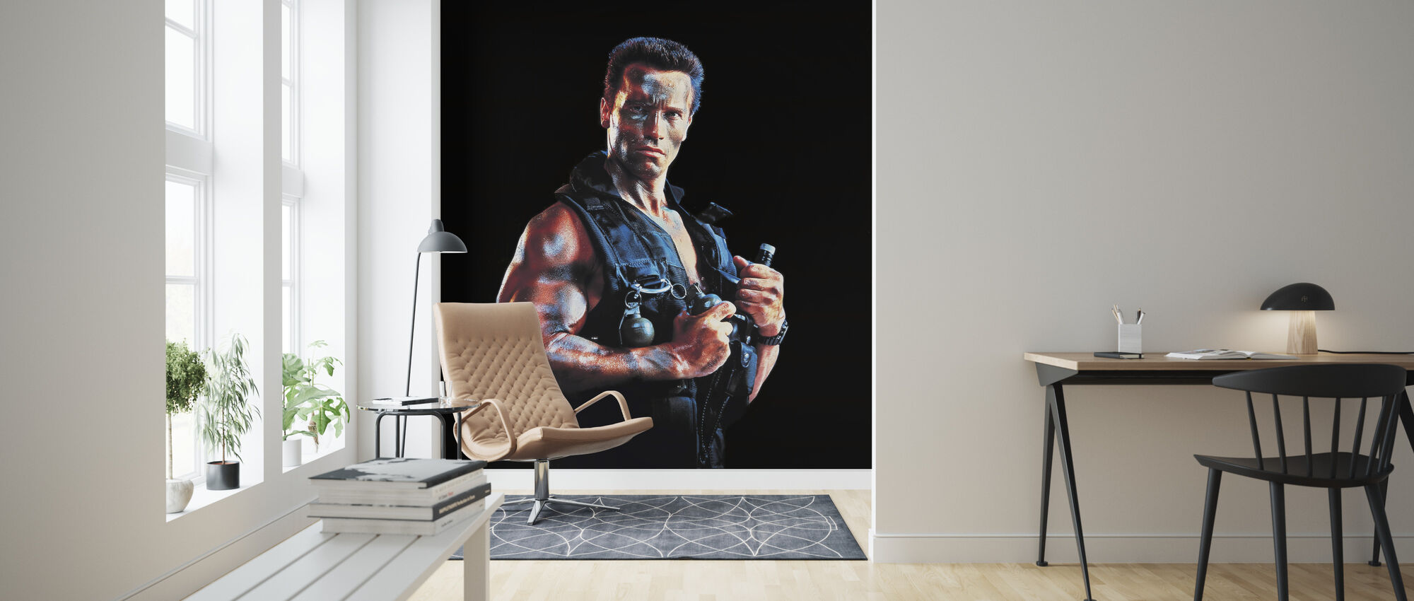 Arnold Schwarzenegger in Commando - Wallpaper - Living Room