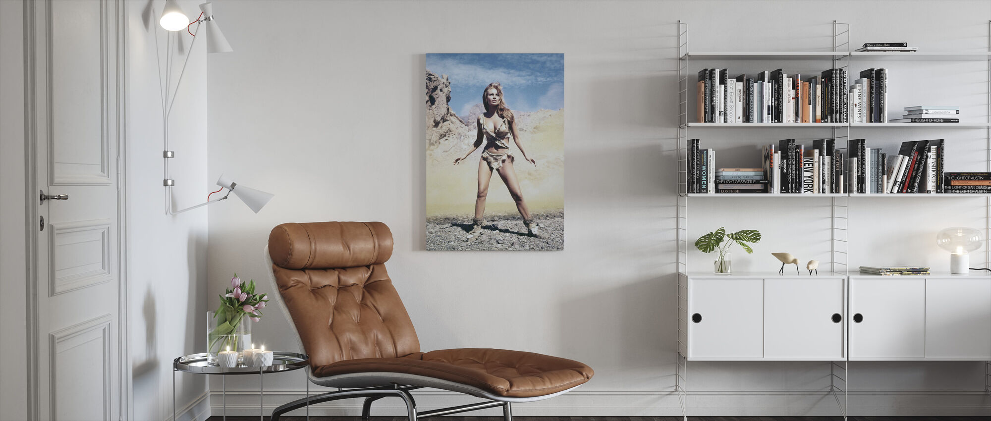 Raquel Welch in One Million Years B. C. - Canvas print - Living Room