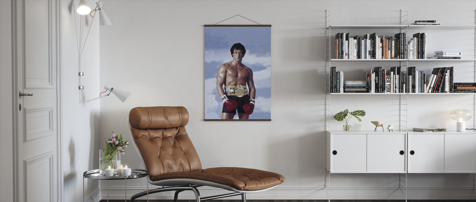 Sylvester Stallone i Rocky III - Plakat - Stue