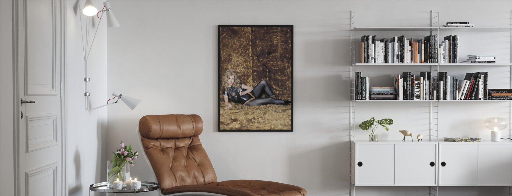 Jane Fonda en Barbarella - Ingelijste print - Woonkamer