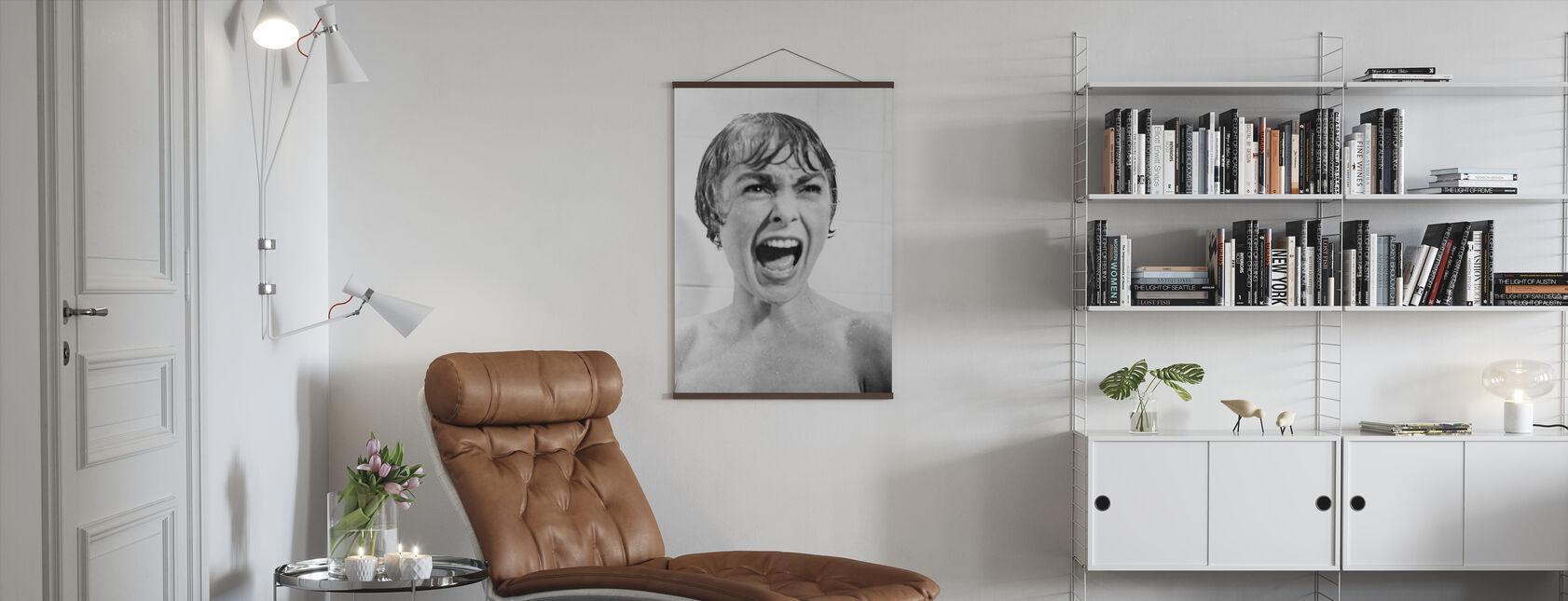 Janet Leigh in Psycho - Poster - Wohnzimmer