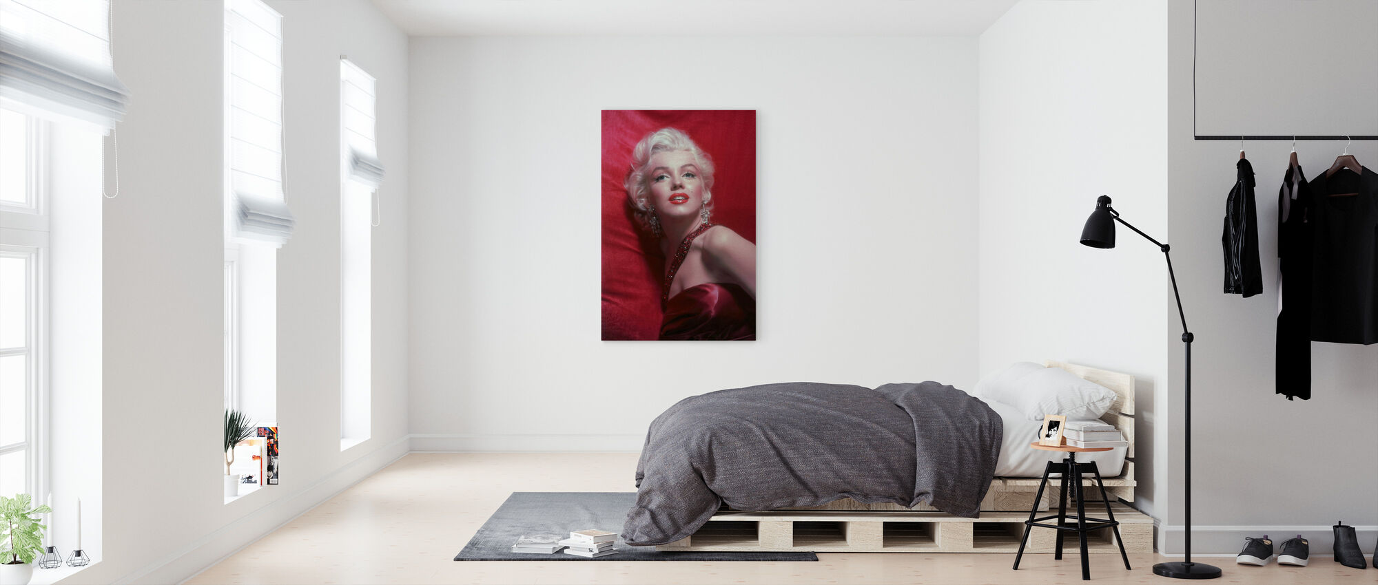 Marilyn Monroe in How to Marry a Millionaire - Canvas print - Bedroom