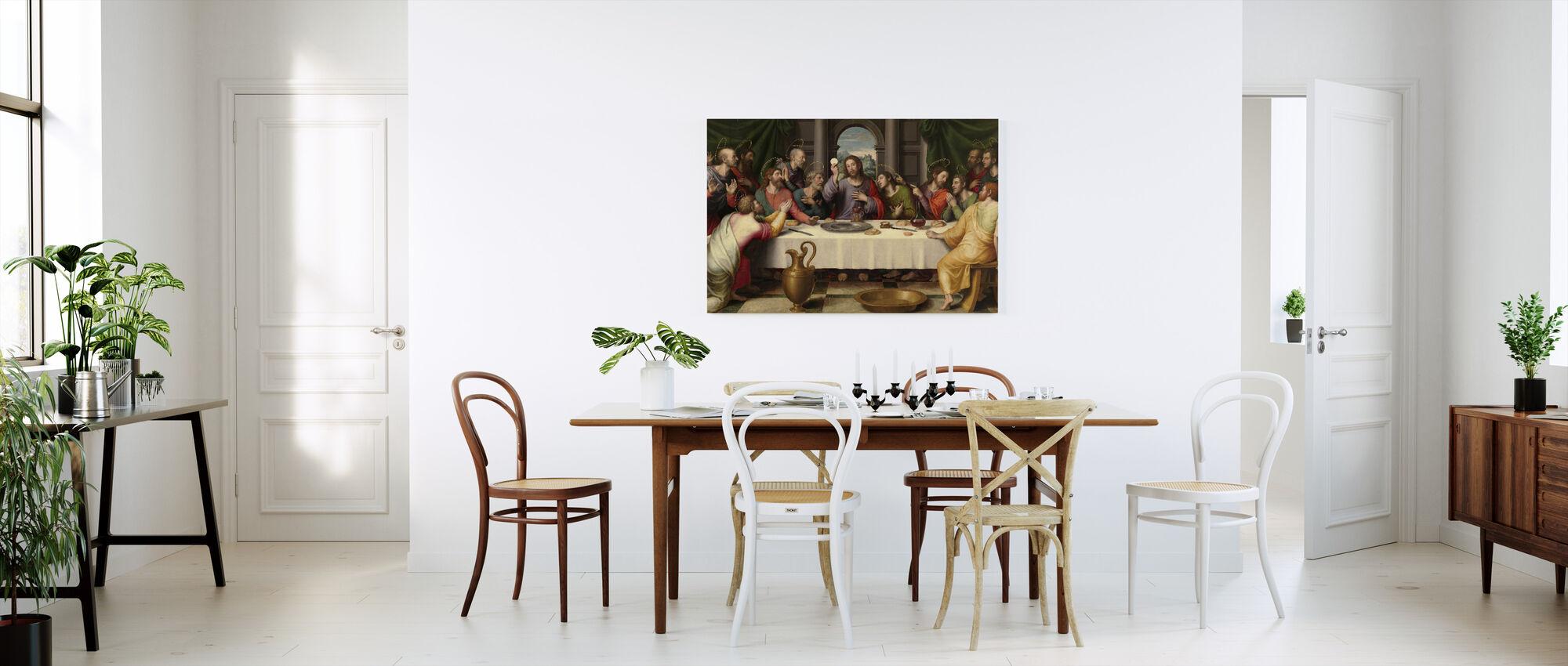 Last Supper Juan De Juanes - Canvas print - Kitchen