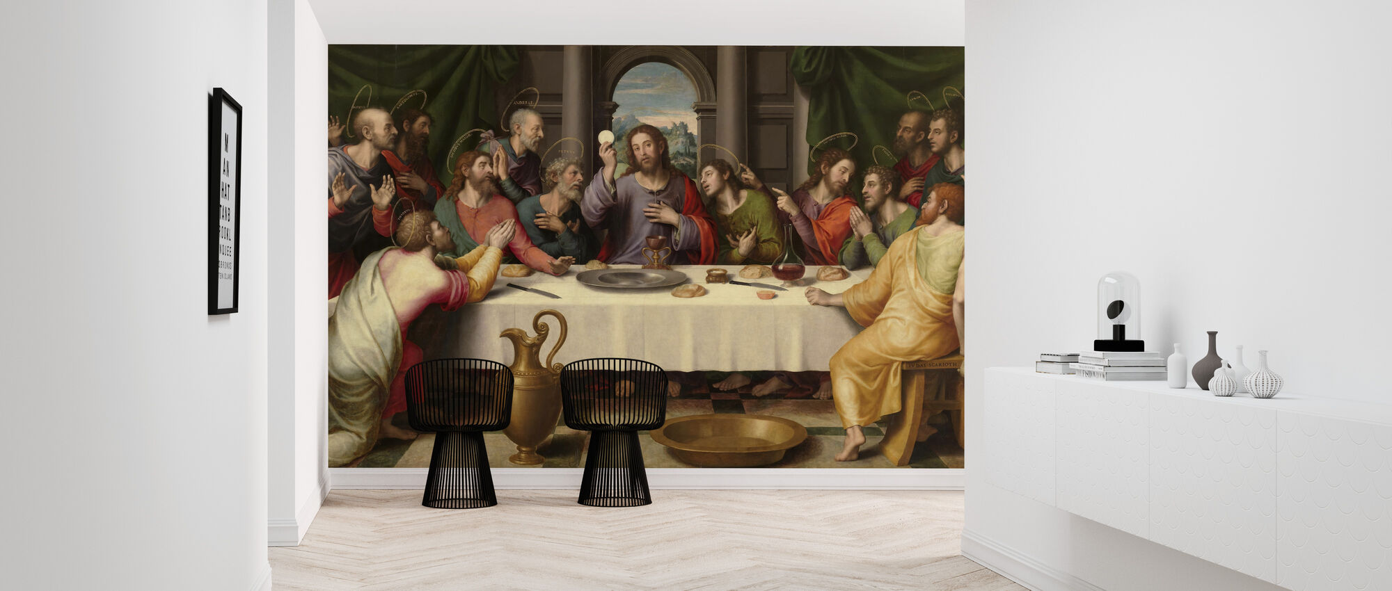 Last Supper Juan De Juanes - Wallpaper - Hallway