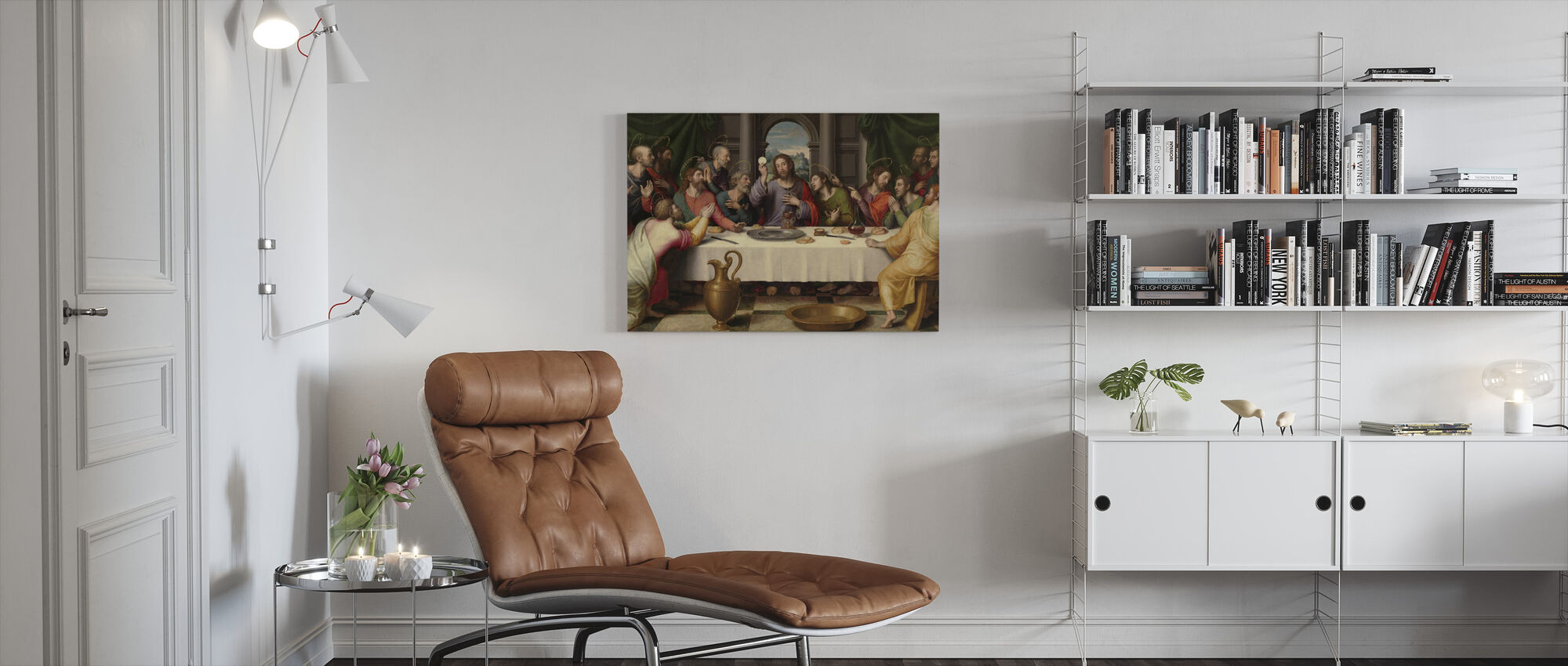 Letztes Abendmahl Juan De Juanes - Leinwandbild - Wohnzimmer