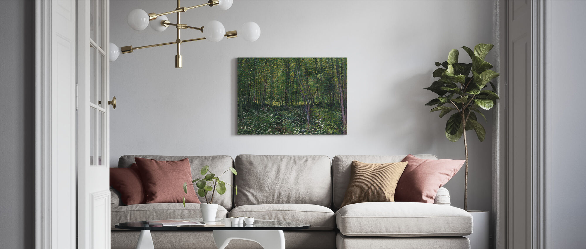 Trees and Undergrowth - Canvas print - Living Room
