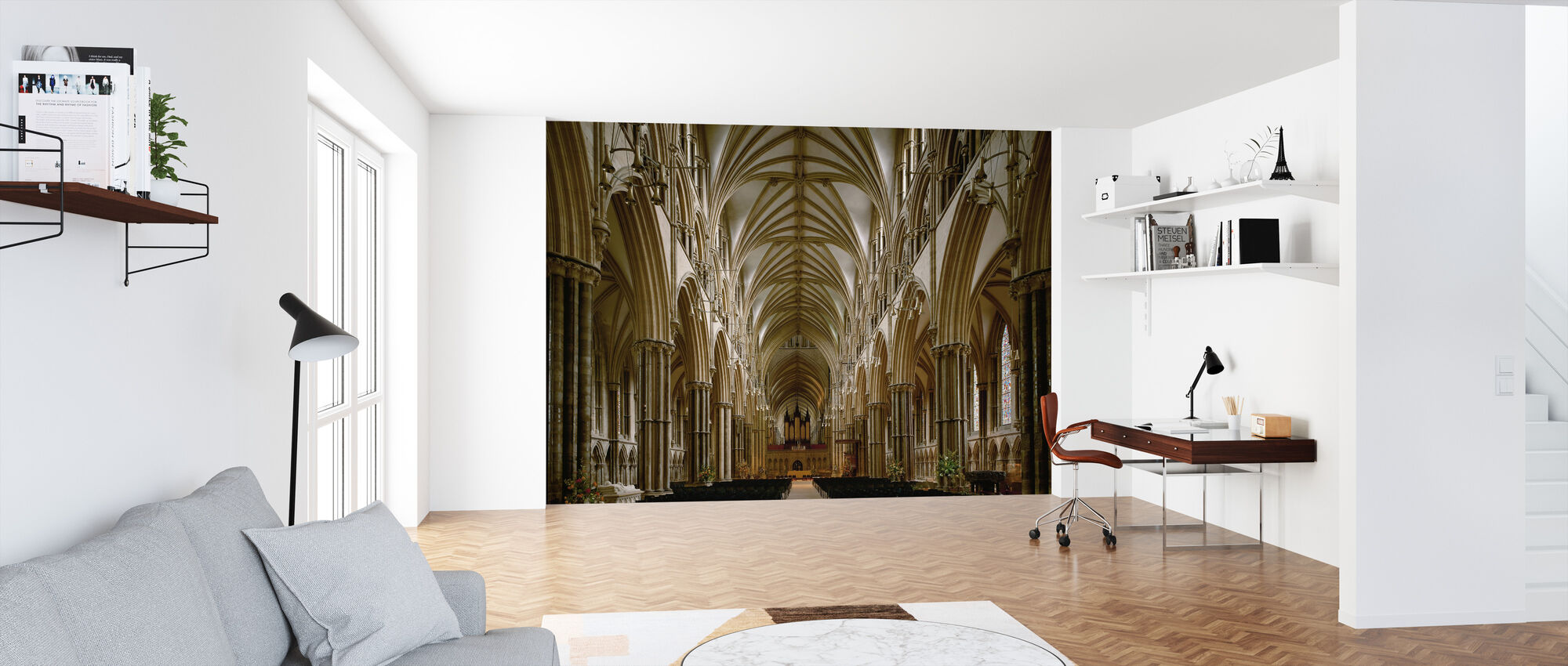 Center Nave of Lincoln Cathedral - Wallpaper - Office