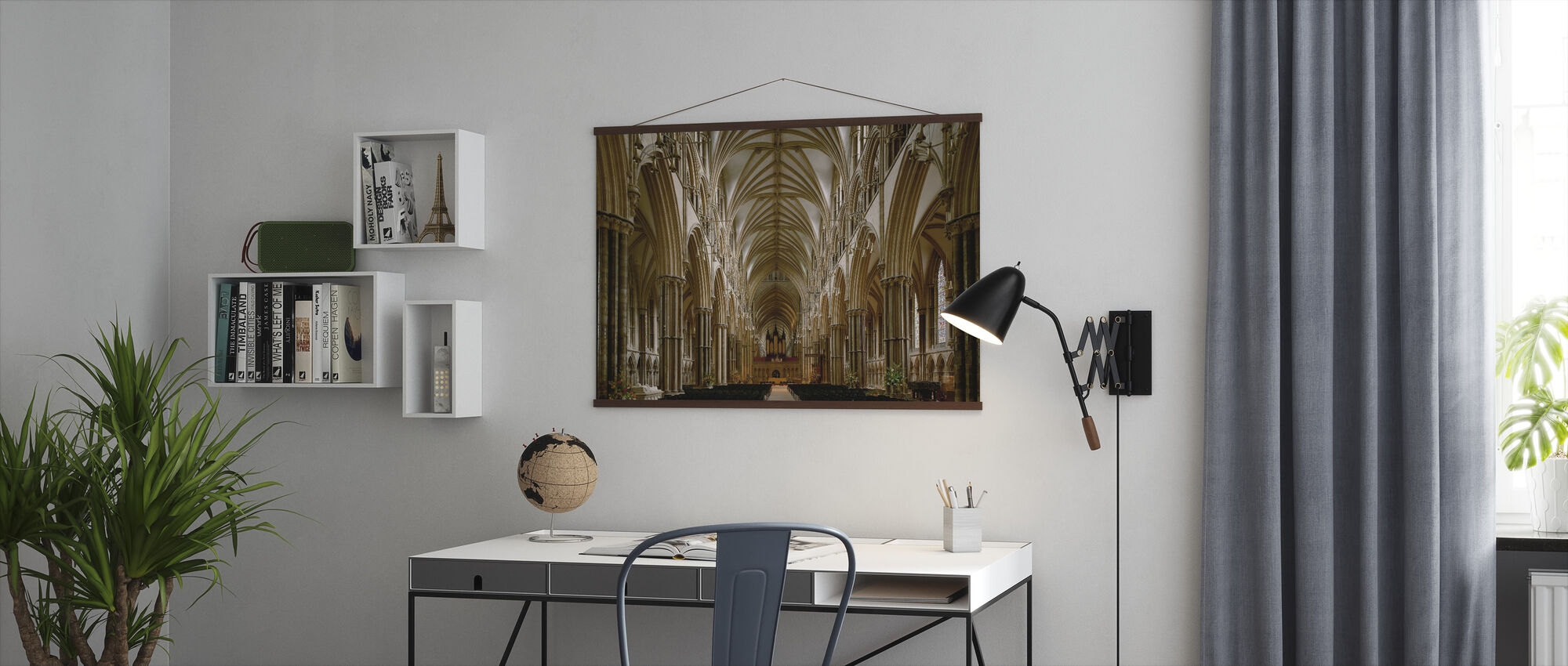 Center Nave of Lincoln Cathedral - Poster - Office