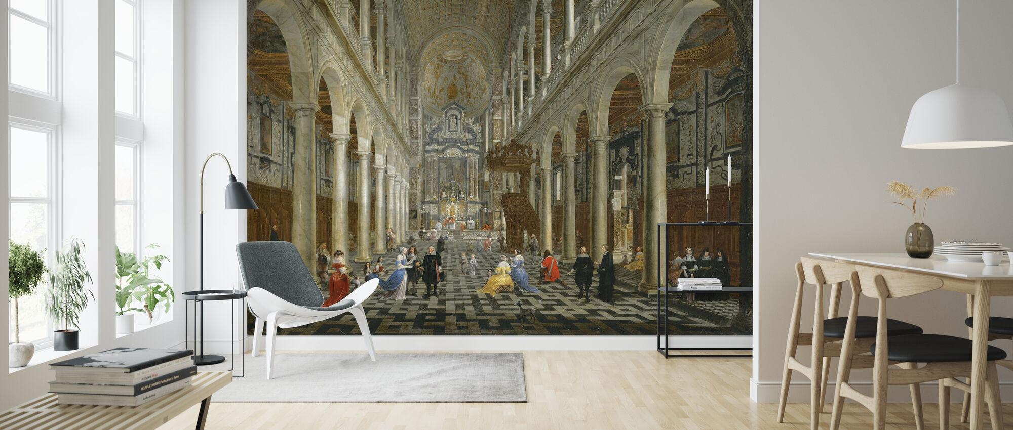 Interior of the Jesuit Church in Antwerp - Wallpaper - Living Room