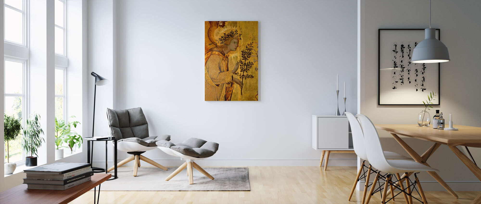 Annunciation Detail The Angel of the Annunciation - Canvas print - Living Room