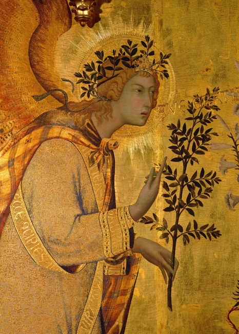 Kuva The Angel of the Annunciation - Simone Martini Tapetit / tapetti 100 x 100 cm