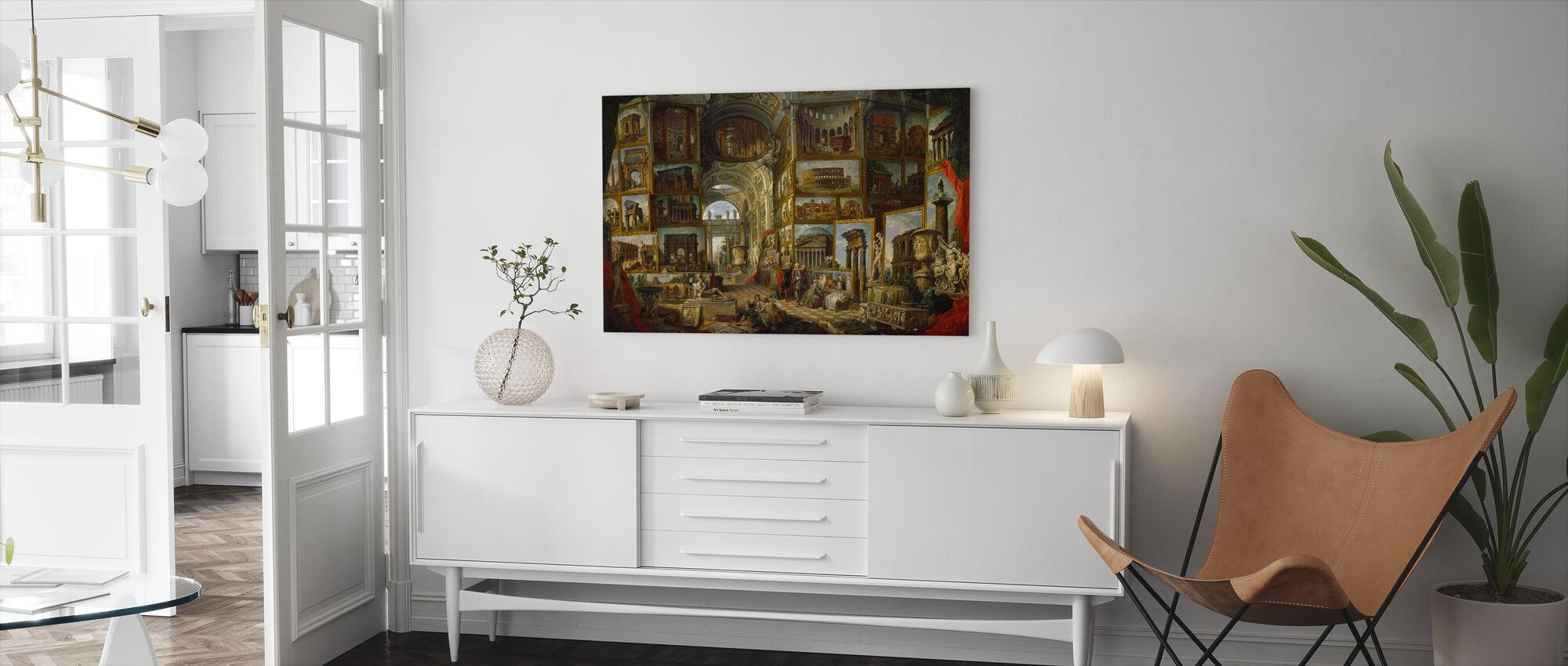 Galerij Van Uitzicht Van Het Oude Rome - Canvas print - Woonkamer
