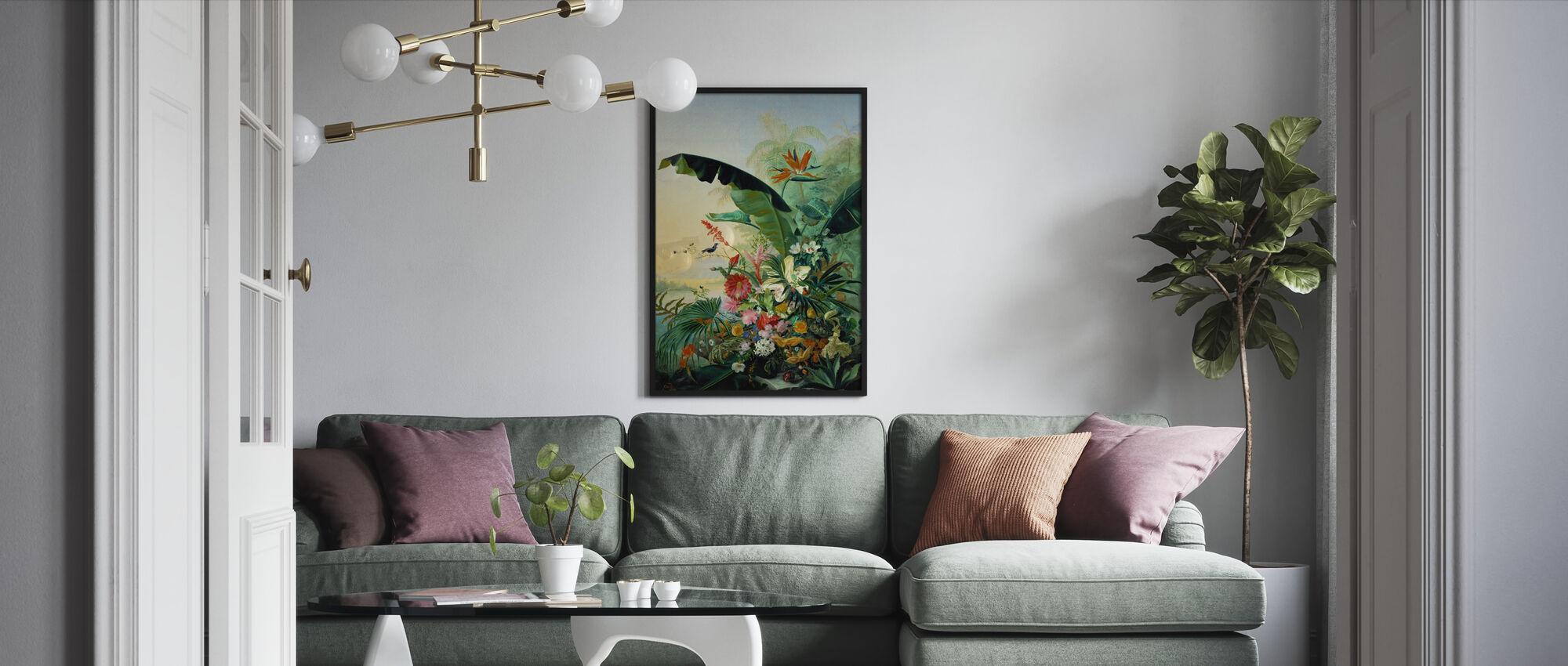 Exotic Flowers - Framed print - Living Room