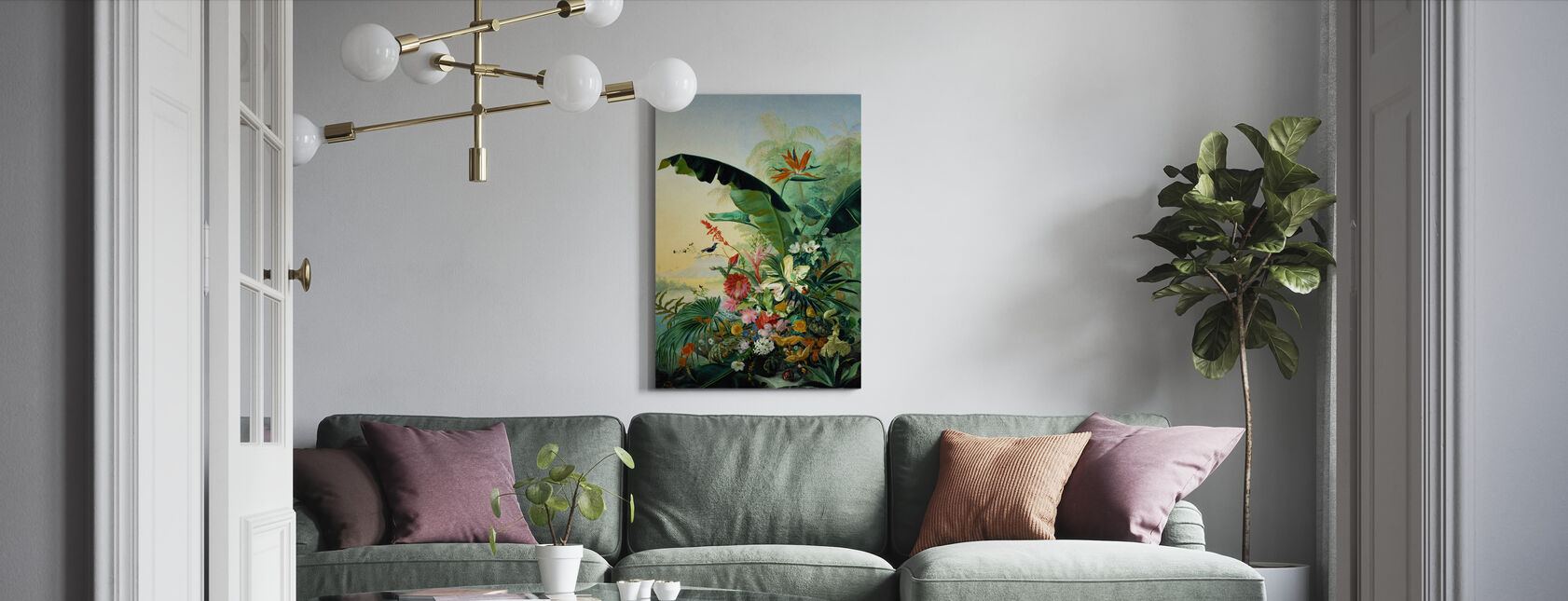 Exotic Flowers - Canvas print - Living Room