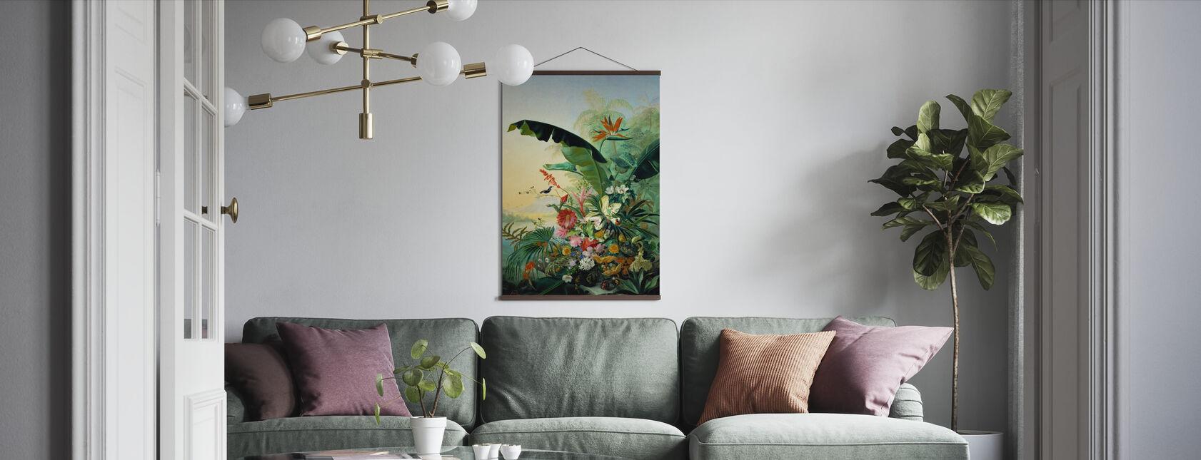 Exotische bloemen - Poster - Woonkamer