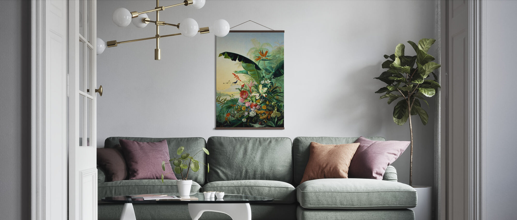 Exotic Flowers - Poster - Living Room