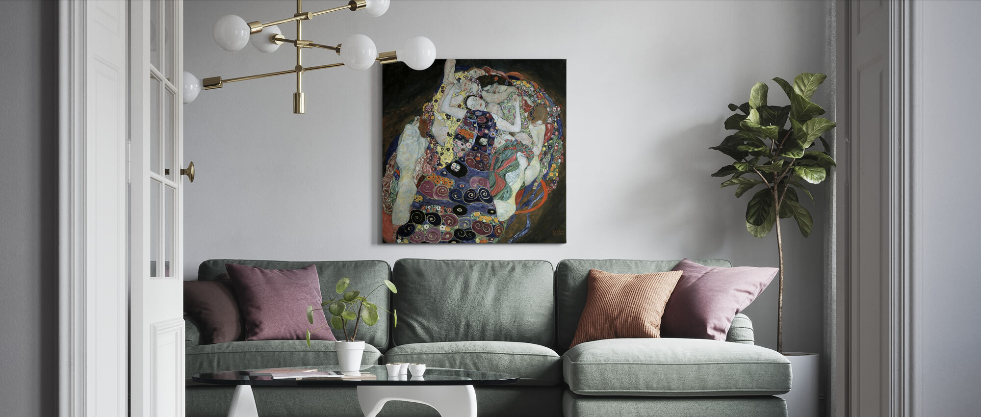 Maagd - Canvas print - Woonkamer