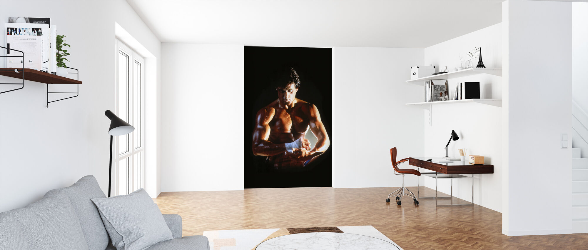 Sylvester Stallone in Rocky IV - Wallpaper - Office