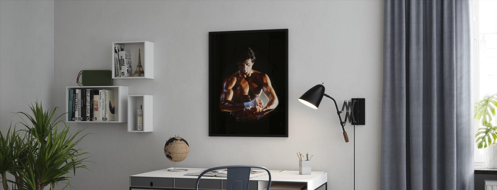 Sylvester Stallone à Rocky IV - Impression encadree - Bureau