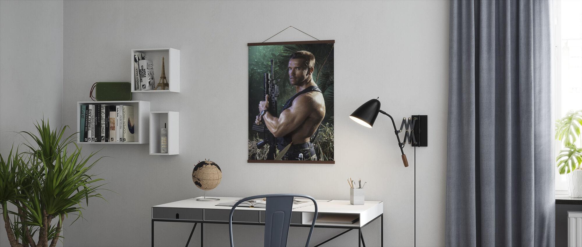 Arnold Schwarzenegger in Predator - Poster - Kantoor