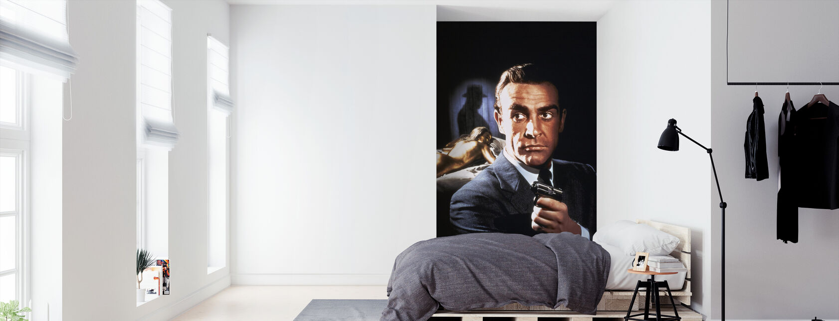 Sean Connery en 007 Goldfinger - Behang - Slaapkamer