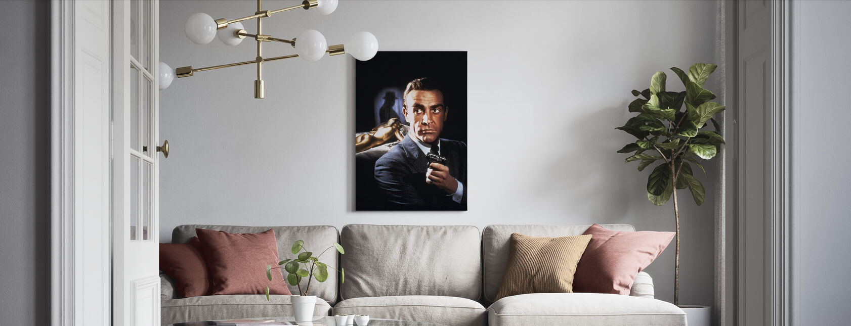 Sean Connery in 007 Goldfinger - Canvas print - Living Room