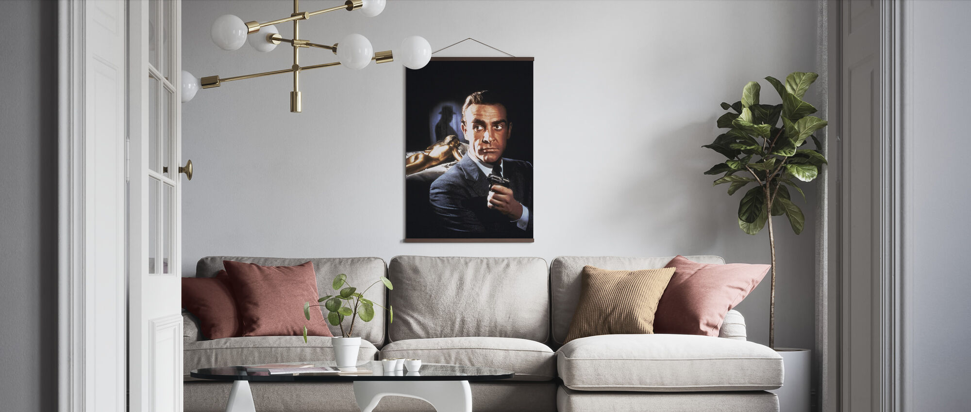Sean Connery in 007 Goldfinger - Poster - Wohnzimmer